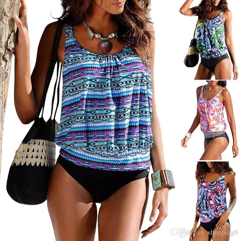 1f9248c384 2019 Hot Sexy Women'S Swimwear Swimdress Bikini Tankini Top And Shorts  Fashion Swimsuit Bathing Suit Beachwear Plus Size S 5XL T43 From Shopping9,  ...