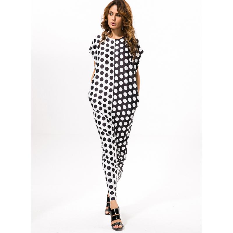 a2b734652e9 2018 Summer Fashion Women O Neck Maxi Long Dress Polka Dot Short Sleeve  Floor Length Pocket Loose Casual Dress Vestidos Dresses For A Cocktail  Party ...