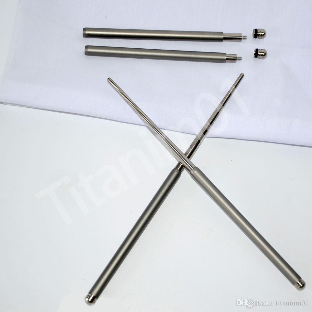 Vajilla al aire libre sólido plegable palillos de titanio acampar picnic senderismo palillos de titanio 1 par