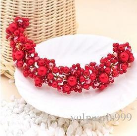 The bride bride headdress jewelry handmade pearl wedding Korean hair hair band