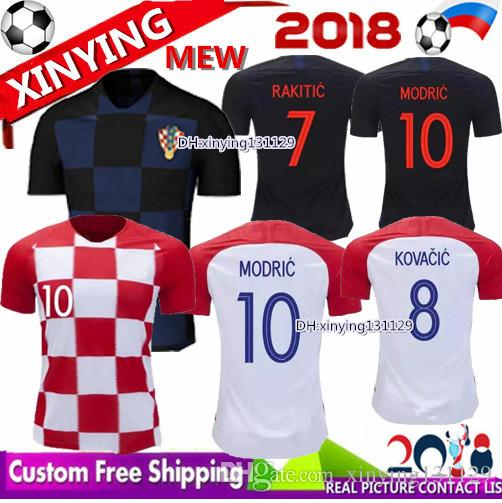 242371262 2019 NEW 2018 World Cup Home Away MODRIC RAKITIC Soccer Jersey MODRIC  PERISIC MANDZUKIC SRNA KOVACIC Red KALINIC Football Shirt From  Xinying131129