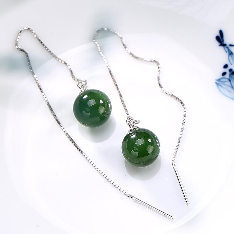 Necklaces & Pendants Green Jasper Vintage Style Gemstone 925 Silver Jewelry Pendant Jade White Jewelry & Watches