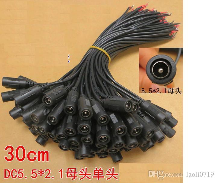 El artículo de la línea de monitor LED 12 v 2 una línea de enlace de alimentación de cc DC5.5 * 2.1 madre 30 cm