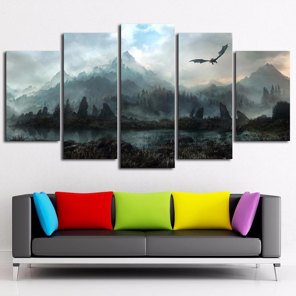 2019 SkyrimHome Decor HD Printed Modern Art Painting On Canvas Unframed Framed From Love3paintings 1794