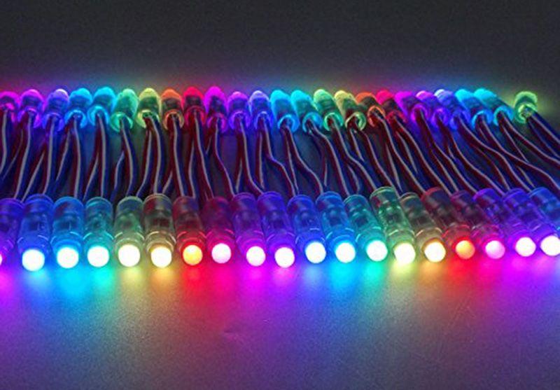 RGB WS2811 IC Led Pixel Modulo luci 12 millimetri IP65 punto impermeabile illumina DC 5V String Natale indirizzabile Luce Letters segno pubblicizzare