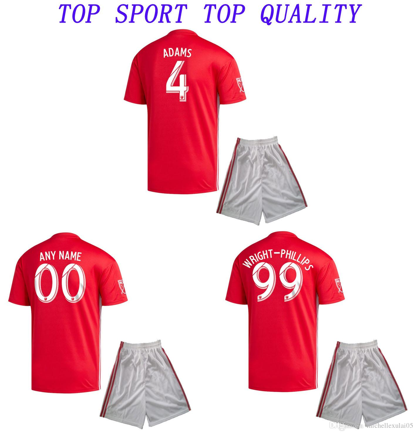 01c493a75e1 2019 2019 New York Soccer Jerseys Home Away Soccer Kits HENRY ADAMS WRIGHT  PHILLIPS Football Shirts Shorts 19 20 Adult Thai Quality Football Sets From  ...