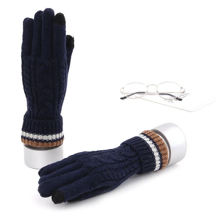 405d3e61891db 2018 New Luxury Wool Gloves Cellphone Touch Screen Mittens Fashion ...