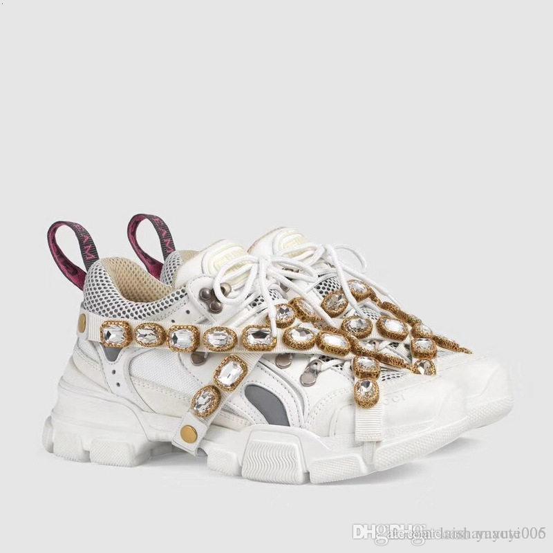 Zapatilla de deporte Flashtrek con cristales extraíbles Diseñador de la marca de lujo para mujer Zapatillas de deporte de montaña Zapatos de escalada