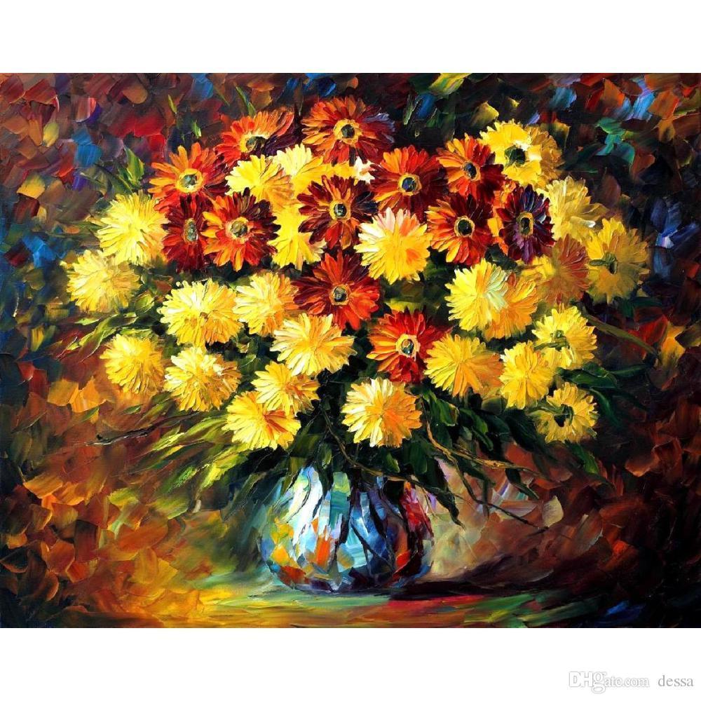 Flowers Art Oil Paintings Leonid Afremov Evening Mood Modern Canvas ...