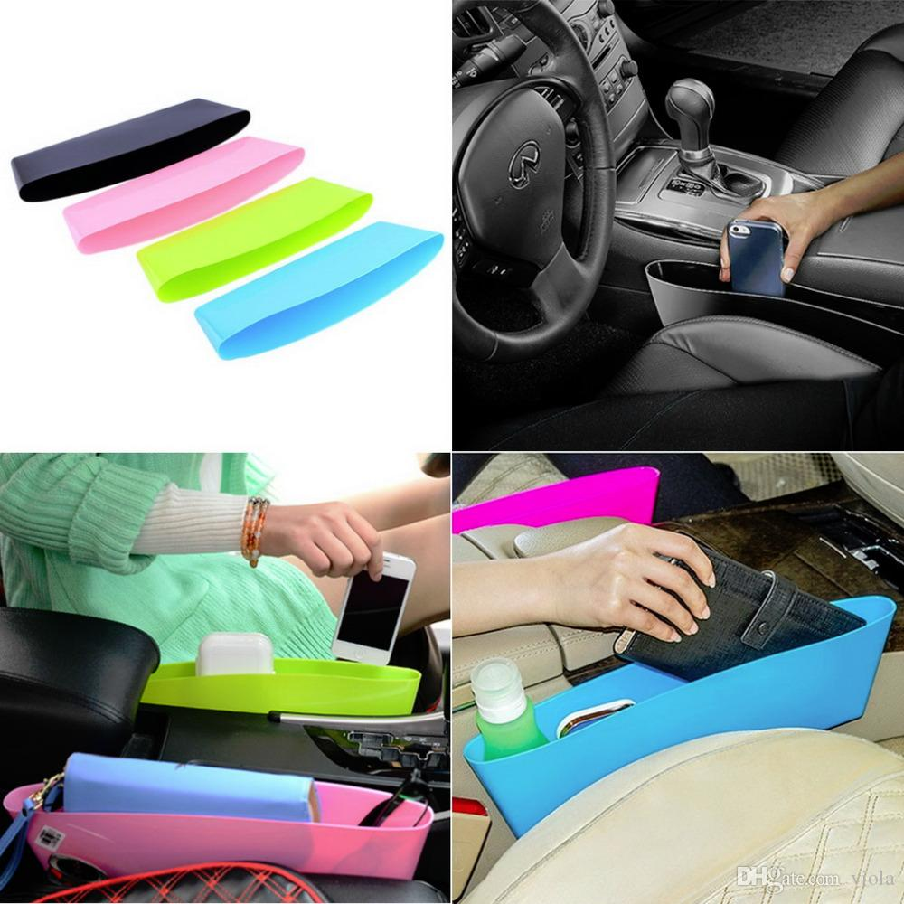 Storage Auto Car Seat Gap Pocket Catcher Organizer Leak-Proof Storage Box bags New organizador Stuff Sacks Slit Pocket Holder
