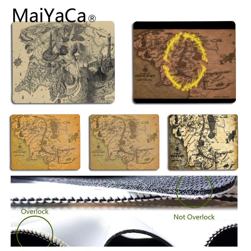 MaiYaCa The Lord of the Rings map Mouse pad PC Computer mat Natural Rubber Gaming mousepad Desk Mat
