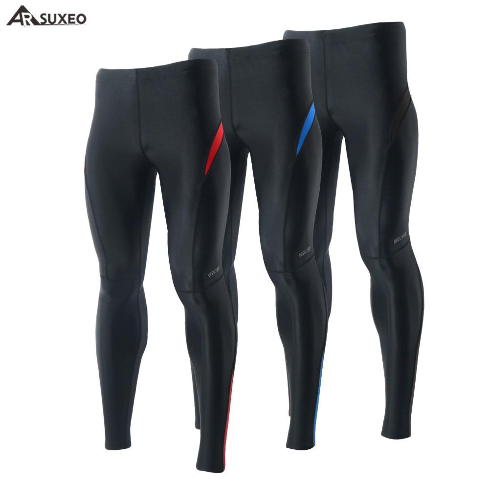 1d7c5925ceadd ARSUXEO Compression Sport Men's Tights Running Elastic Pants Tights Run  Fitness Workout GYM Reflective Pants 9013