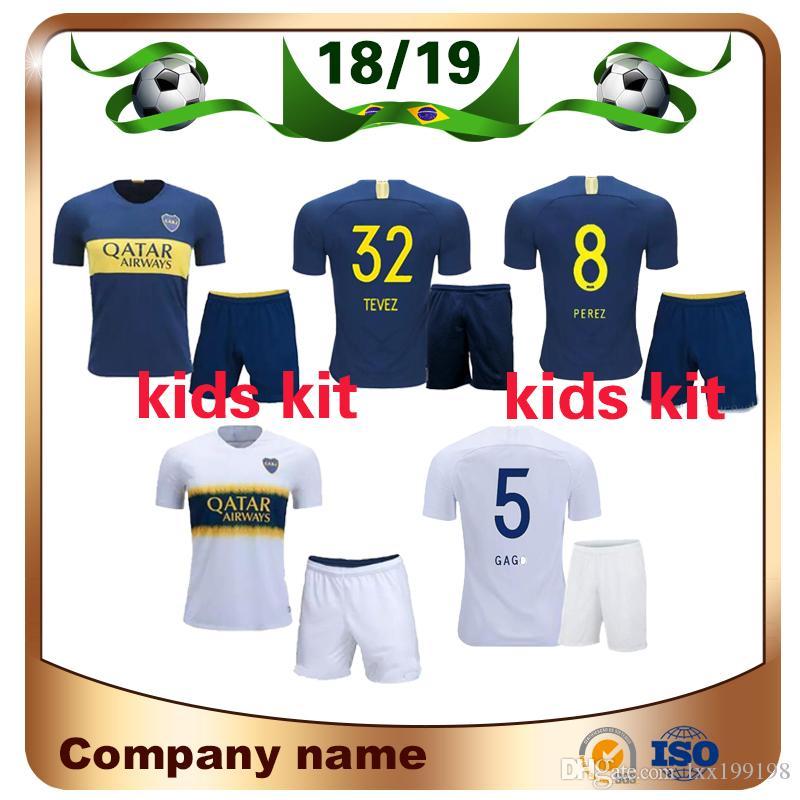 Compre 2019 Kit Para Niños Camiseta De Fútbol Boca Juniors 18 19 Boca  Juniors Local GAGO OSVALDO Camisetas De Fútbol Away CARLITOS PEREZ P Niño  Niño ... d742dce36af0b