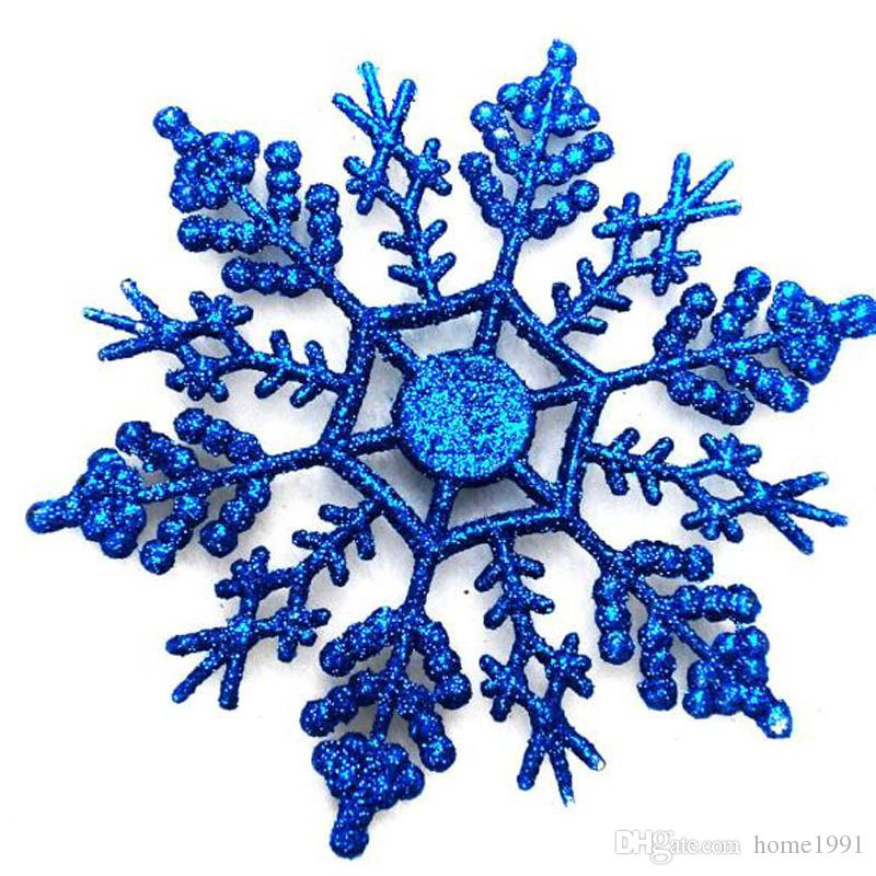 new christmas ornaments 10cm snowflake colorful glitter plastic glitter snowflake christmas tree pendant snowflake discount christmas ornaments discount