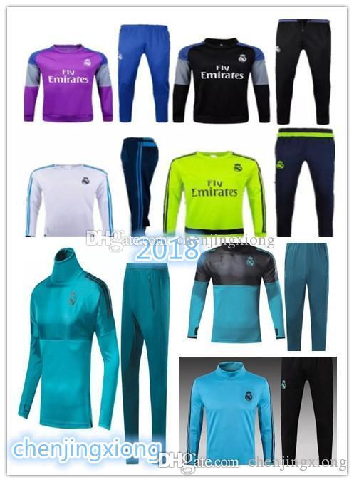 a8393da2d Soccer Tracksuits 2018 Best Quality Survetement Football Marseille ...