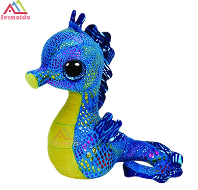 00c768fed71 2018 Ty Beanie Boos 6 15cm Neptune The Seahorse Plush Regular Soft Big Eyed  Stuffed Animal Collection Doll Toy From Jamani3