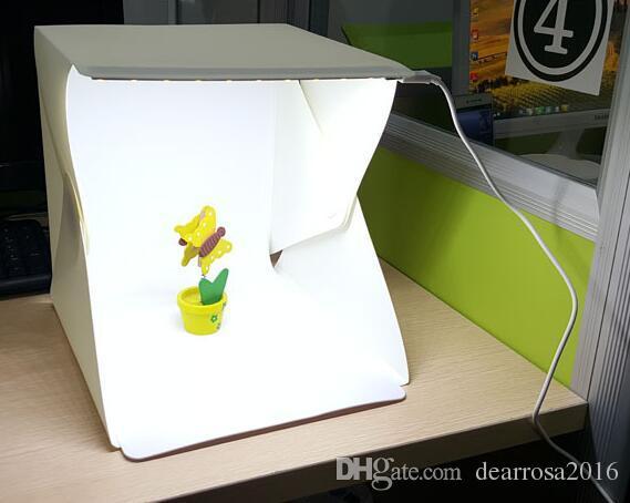 1 Jogo / lote Caixa de Fotografia Mini Caixa de Fotografia Pano de Fundo Embutido Light Photo Box Pouco Itens Caixa de Fotografia Acessórios de Estúdio