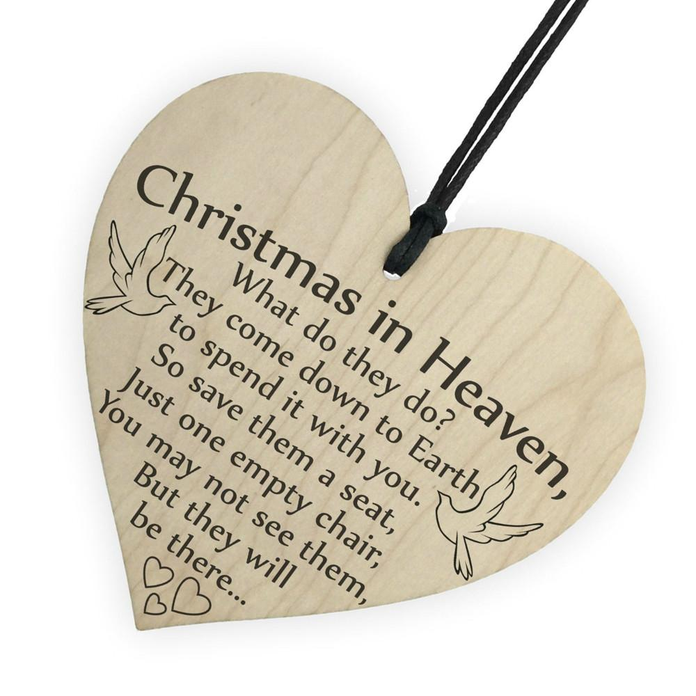 christmas tree decorations in heaven wood heart plaque sign friendship home decoration home decor christmas decorations for sale online christmas