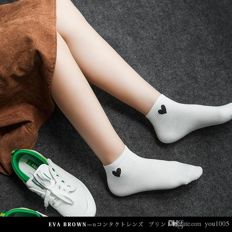 Wholesale new products love women's socks summer shallow ladies socks and socks pure cotton.