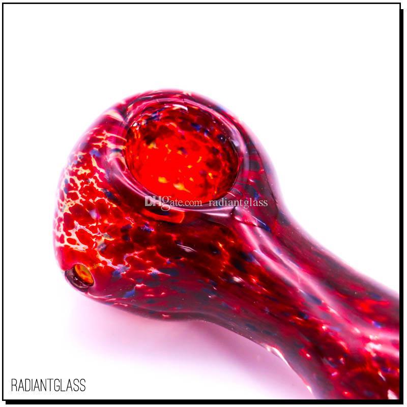 MINI TUBO FUMATORI IN VETRO rosso sangue piccolo tubo a mano tubi in vetro da 3 pollici tubo da radiantglass fabbrica