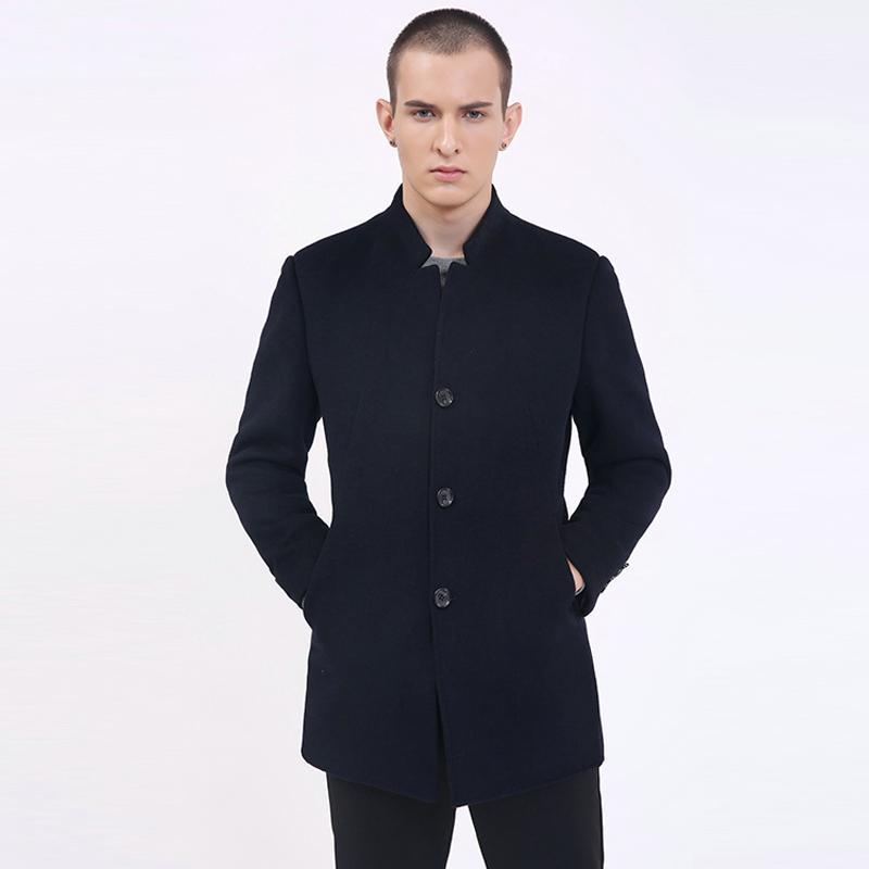 Großhandel 2018 Winter Neue Mode Marke Mantel Herren Hohe Kragen Slim Fit  Peacoat Warme Jacke Wolle Mischt Mantel Winter Casual Männer Kleidung Von  Flowter, ... 3309c681b7