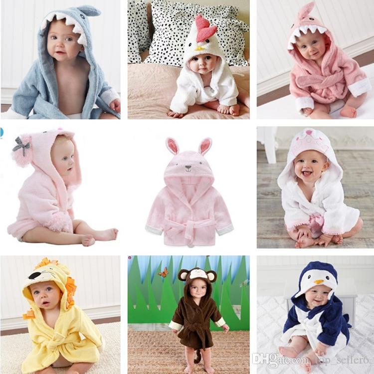 Nachthemden Babykleidung Jungen Neugeborenen Baby Nachtwäsche Fleece Kinder Baby Nachtwäsche Winter Frühling Kinder Roben Cartoon Bär Baby Mit Kapuze Bademantel Kleinkind Pyjamas