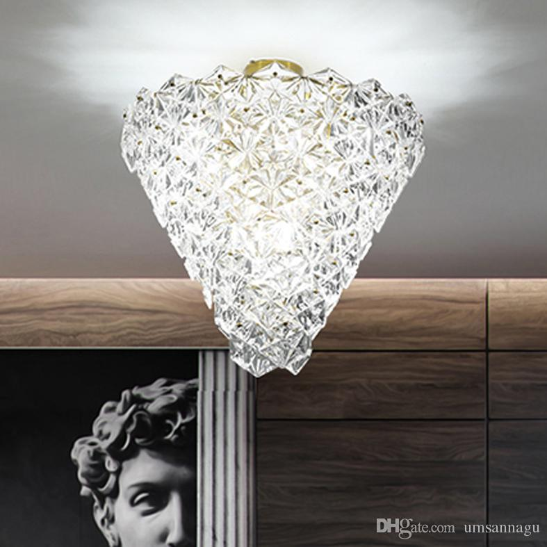2018 Modern Ceiling Lamps Led Lights American Crystal Glass Snow ...