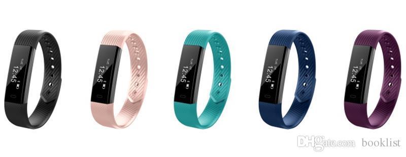 ID115 F0 Smart Bracelets Fitness Tracker Step Counter Monitor de Actividad Band Band Reloj de alarma Vibration Wristband para iphone teléfono Android