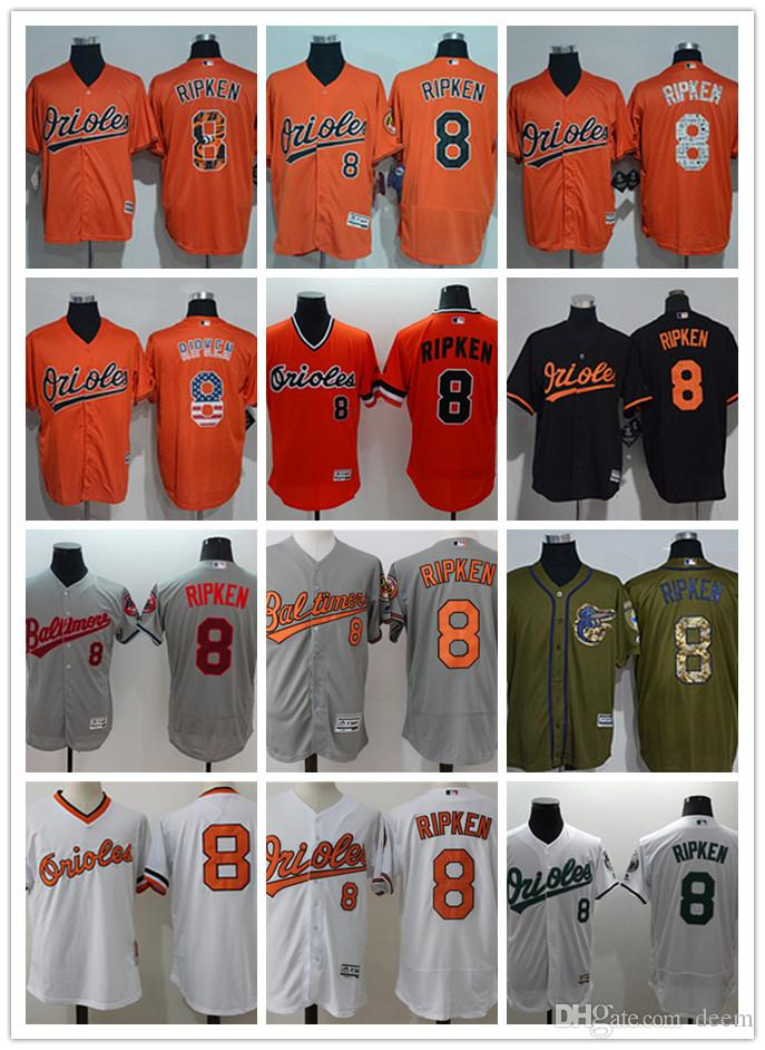 02e556009ee 2018 Custom Men Women Youth Majestic Orioles Jersey  8 Cal Ripken ...