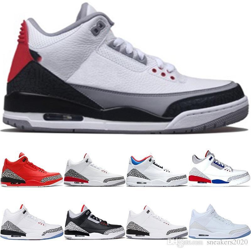 online store c6eea 84918 Nike Air Jordan 3 3s RetroZapatos De Baloncesto De Los Hombres Del  Diseñador Katrina Tinker JTH NRG Línea De Tiro Libre Del Cemento Negro  Correa De Deporte ...