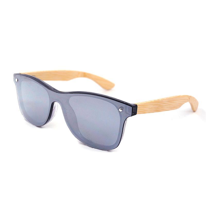 b840585002 Compre Gafas De Sol De Bambú De Madera Para Hombres Marca De Estilo Vintage  Lente Plana Sin Montura Marco Cuadrado Mujeres Gafas De Sol Gafas Oculos  Lente ...