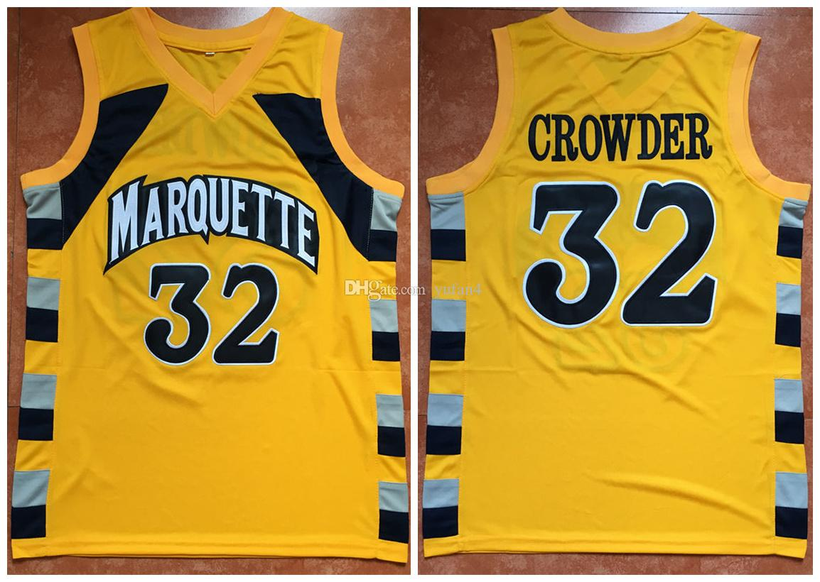 248d5734ba54 denmark 2019 32 jae crowder marquette golden eagles retro classic  basketball jersey mens stitched custom number