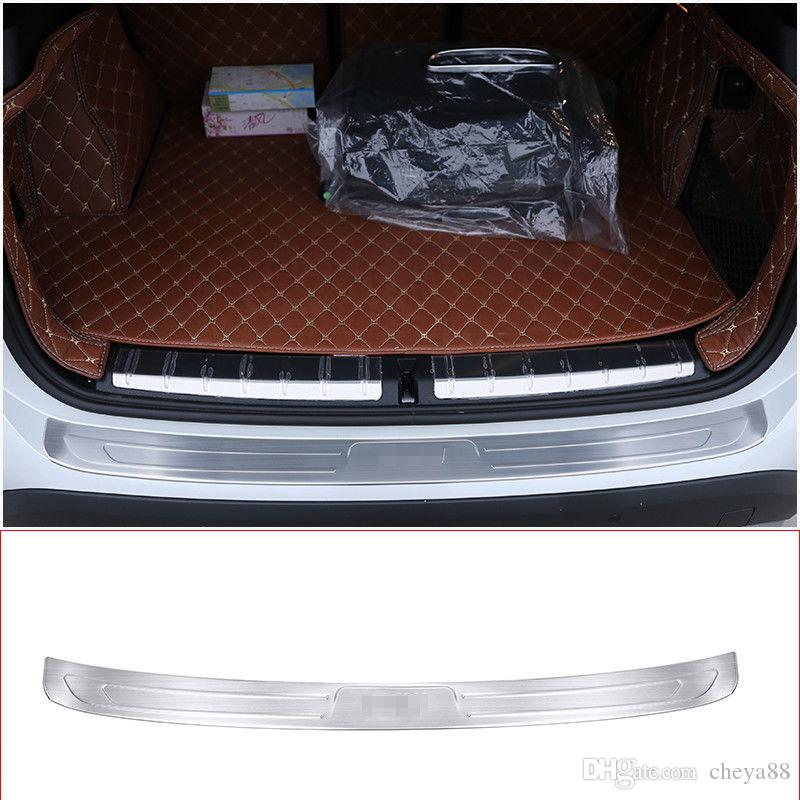 Stainless Steel Inner Outside Rear Bumper Sill Plate Protector Trim For BMW X1 f48 2016-2017 Car Accessory