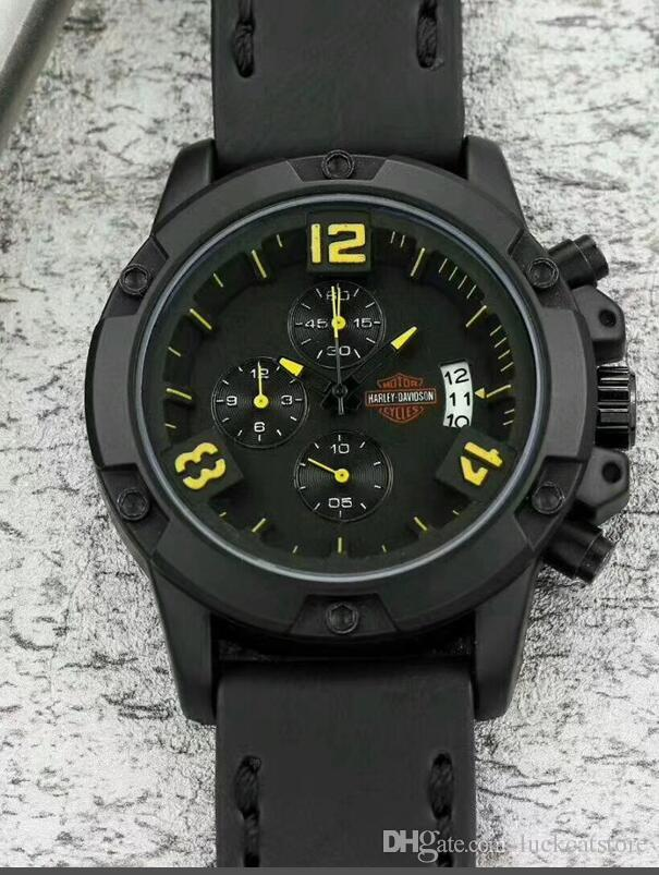 4971e48ab0 Fashion Men Military army quartz Watch Chronograph Sport Harley Mens  Watches Top Brand Luxury Men s Watch Clock saat relogio big bang