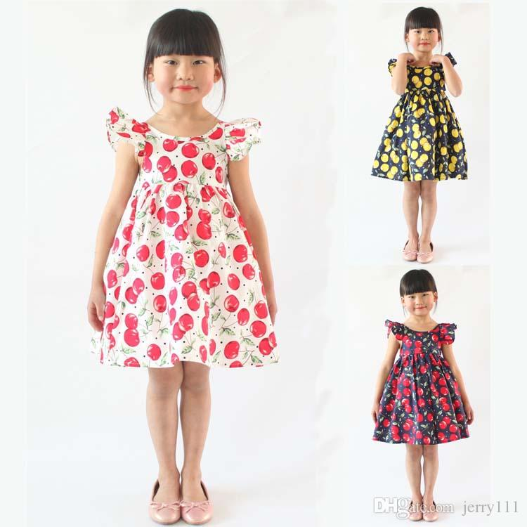 d51ba8aecf6910 2019 Baby Girls Dresses 12 Months 7 Years Old Girls Summer Dresses Flower Girl  Dresses Tutu Dress Kids Clothing LA660 From Jerry111, $6.92 | DHgate.Com
