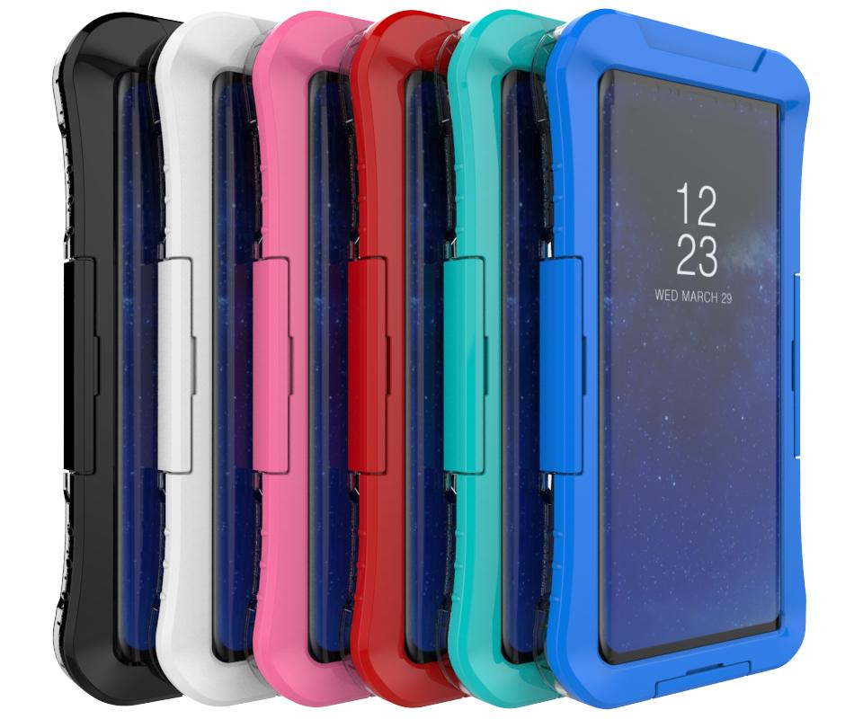For iPhone 8 7 6 6S 5 5S SE 100% sealed Waterproof Case For Samsung S8 S6  S7 Edge Plus Note 8 5 4 Case Full Protection Cover