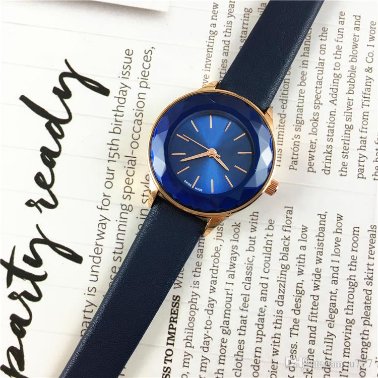 Hot Sale Luxury Bezel Dial Women Watches Quartz Wristwatch Best Gifts Multi  Colors Genuine Leather Drop Shipping Lady Leisure Dress Watch Women Watch  Online ...