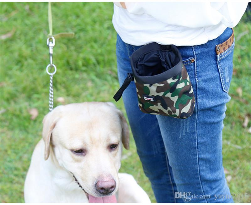 Pet Training Pouch Camouflage pet training pockets Dog training waist Pouch Outdoor snack bag garbage bag DHL