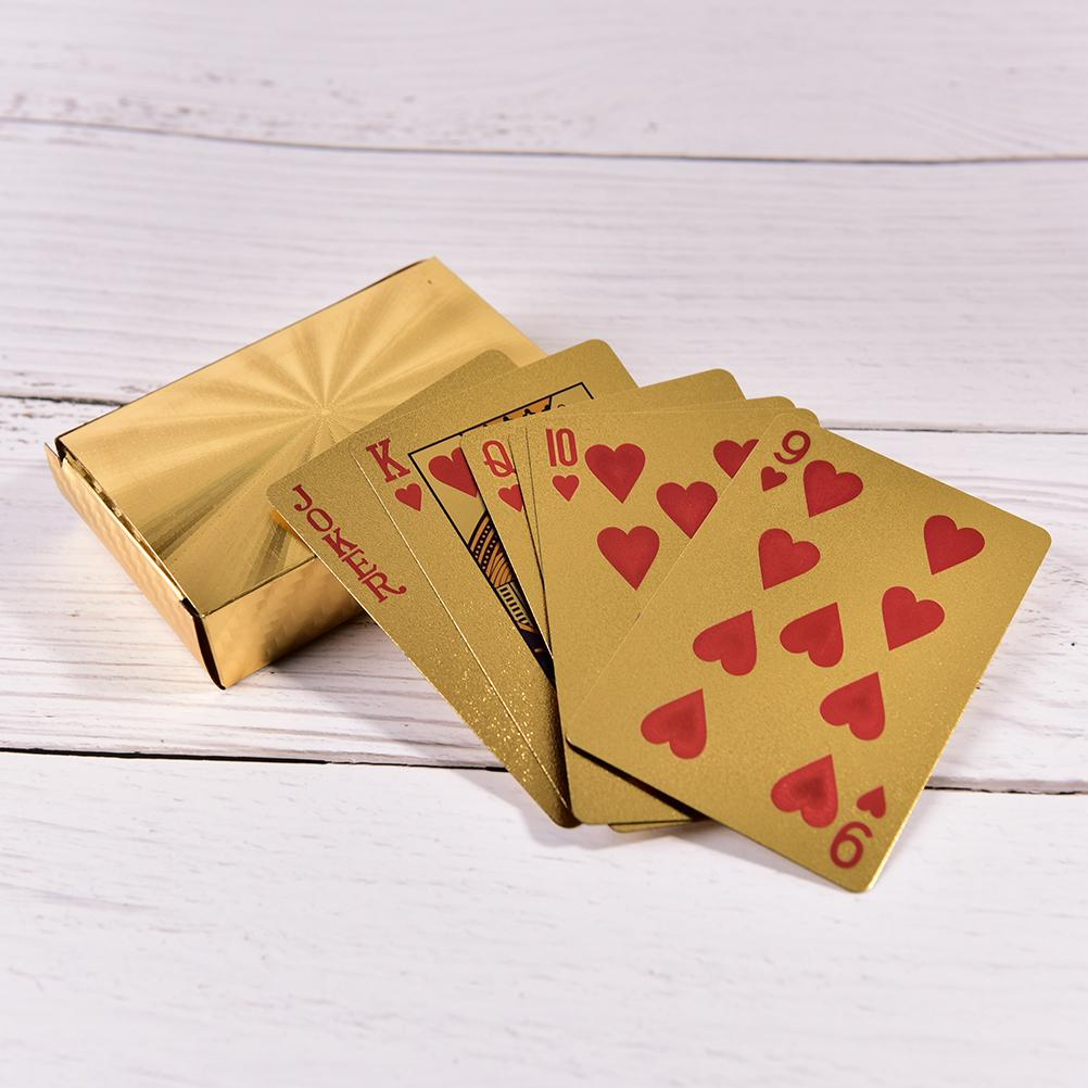Gold Foil Plated Poker Card High-grade Family meet games Gold Foil Playing Cards Texas Hold'em Poker Funny