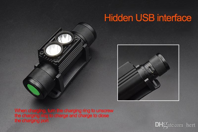 T6 фары велосипед свет Фонарик светодиодный велосипед свет с 18650 аккумуляторная батарея USB кабель водонепроницаемый USB LED XML L2 T6 головного света