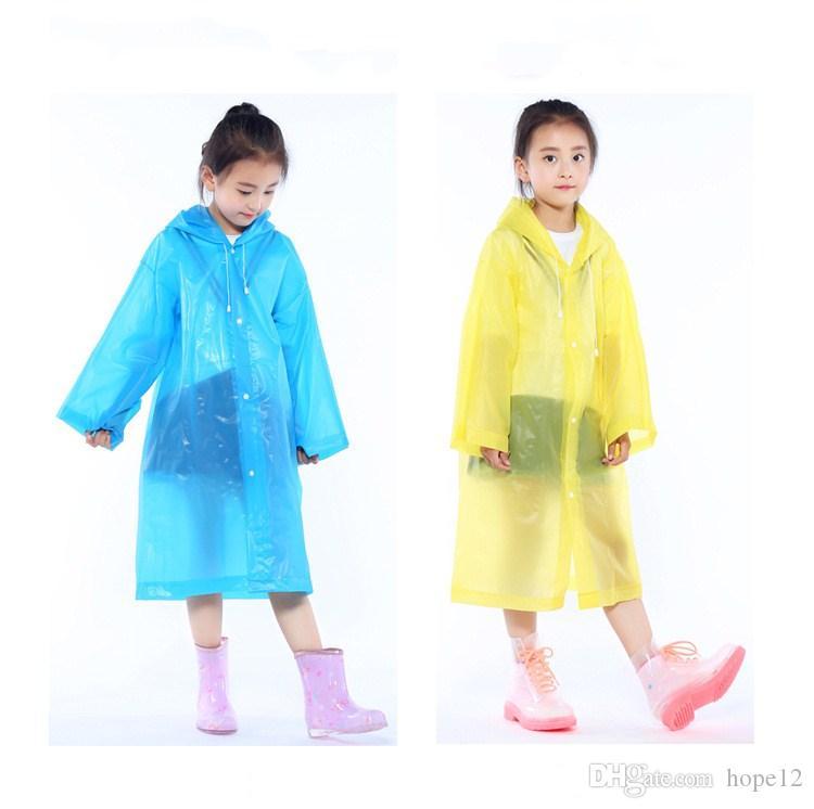 c27c550d6 Compre Niños Con Capucha Chaqueta Transparente Impermeables Capa De Lluvia  Poncho Impermeable Cubierta Long Girl Boy Rainwear es 110 * 55cm A $1.79  Del ...