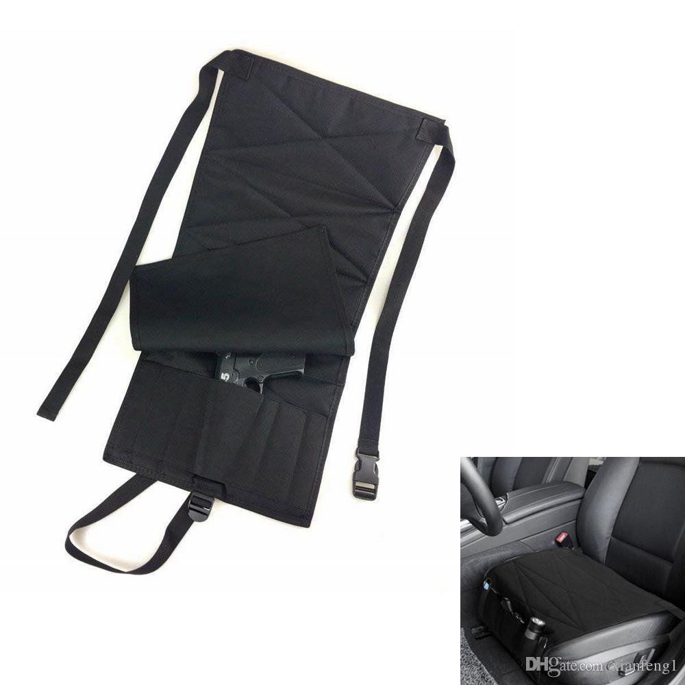 2018 Multiply Concealed Car Seat Pistol Holster Mattress Bed Office Chair Bedroom Handgun Tactical Carry Holsters BLACK From