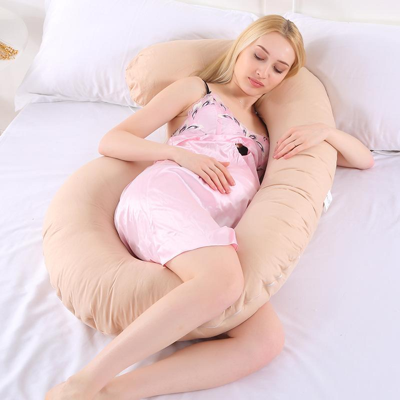 Multifunctional pregnant women pillow side pillow cotton washable U-shaped nap cushion C-type factory outlet