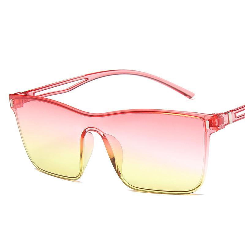 c2fa14f0d1c86 Compre 2018 Moda Óculos De Sol Das Mulheres Dos Homens Da Marca Designer  Esporte Óculos De Sol Para As Mulheres Sem Aro Estilo Quadrado Do Oceano  Gradiente ...