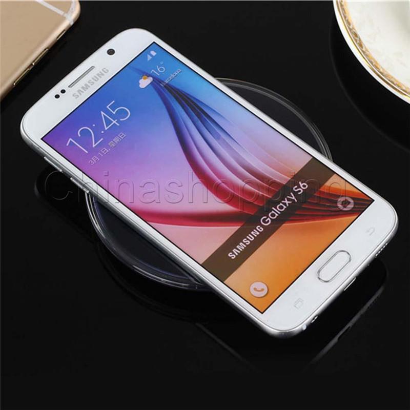 سادة شاحن لاسلكي Universal Qi لهاتف Samsung Note 8 Galaxy S8 Plus S7 Edge iPhone X 8 مع حزمة البيع بالتجزئة