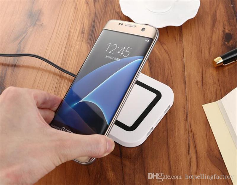 Caricatore senza fili caricabatterie wireless con doppio caricatore Qi USB iPhone 8 X Galaxy S8 S7 S6 Edge Note5 Note8
