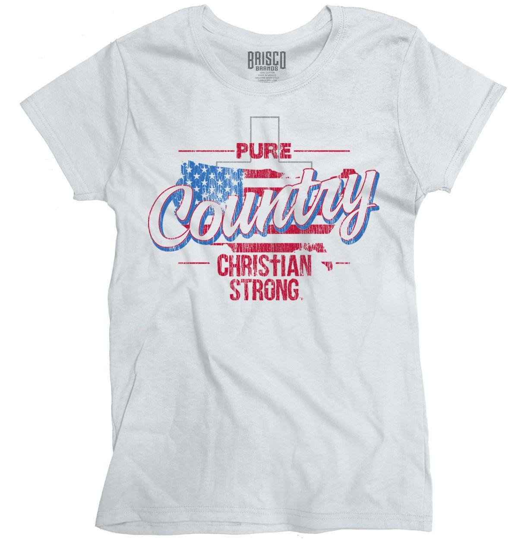 696e0a24 Women's Tee Pure Country Christian Americana God Patriotic Usa Flag Shirt  Ladies T-shirt Clothing Fashion Harajuku T Shirt Brand Clothing