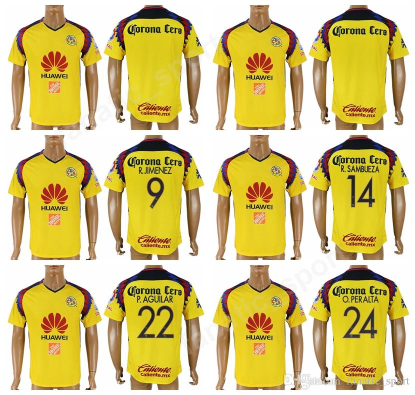 d2eb9f7177a 2019 Liga MX Mexico Club America 24 Oribe Peralta Soccer Jerseys Football  Shirt Kits Uniform Thai Custom 9 JIMENEZ 14 SAMBUEZA 22 AGUILAR LAINEZ From  ...