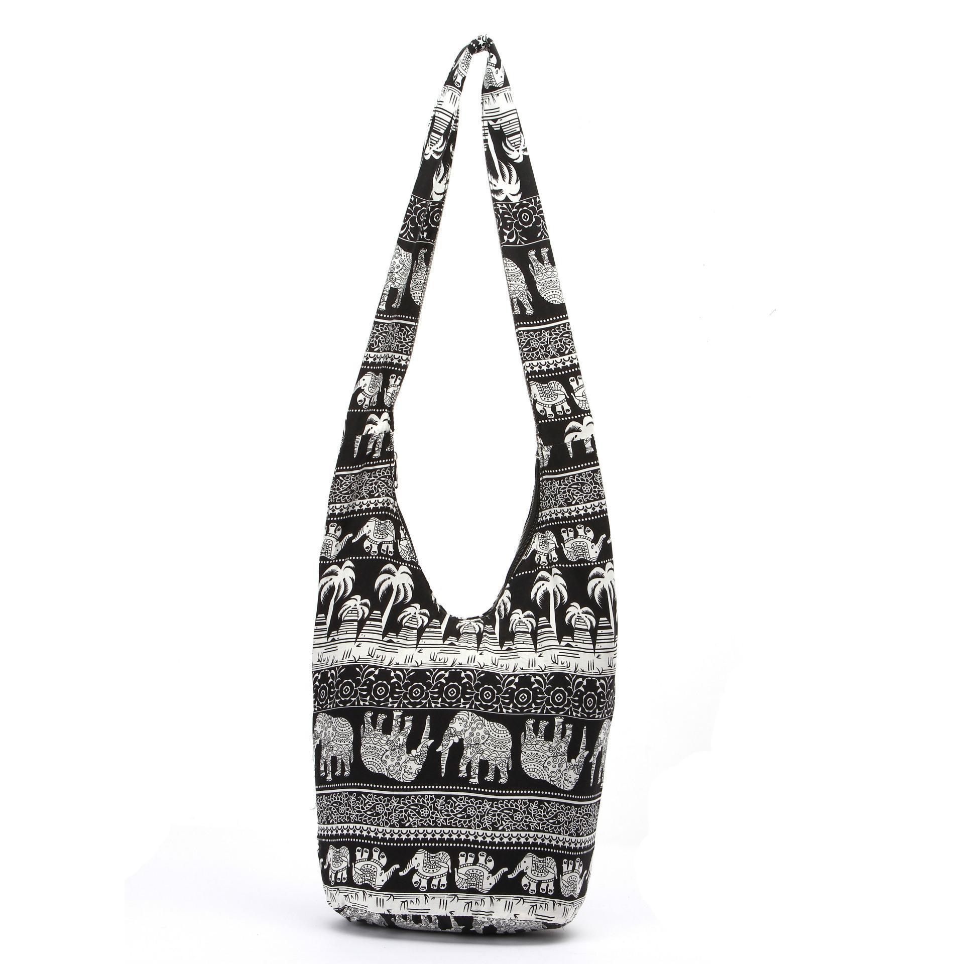 63905e8956 Cotton Canvas Hippie Crossbody Cross Body Bag Thai Top Zip Hobo Sling Bag  Handmade Hipster Messenger Zipper Bag White Handbags Satchel Handbags From  Yinkor