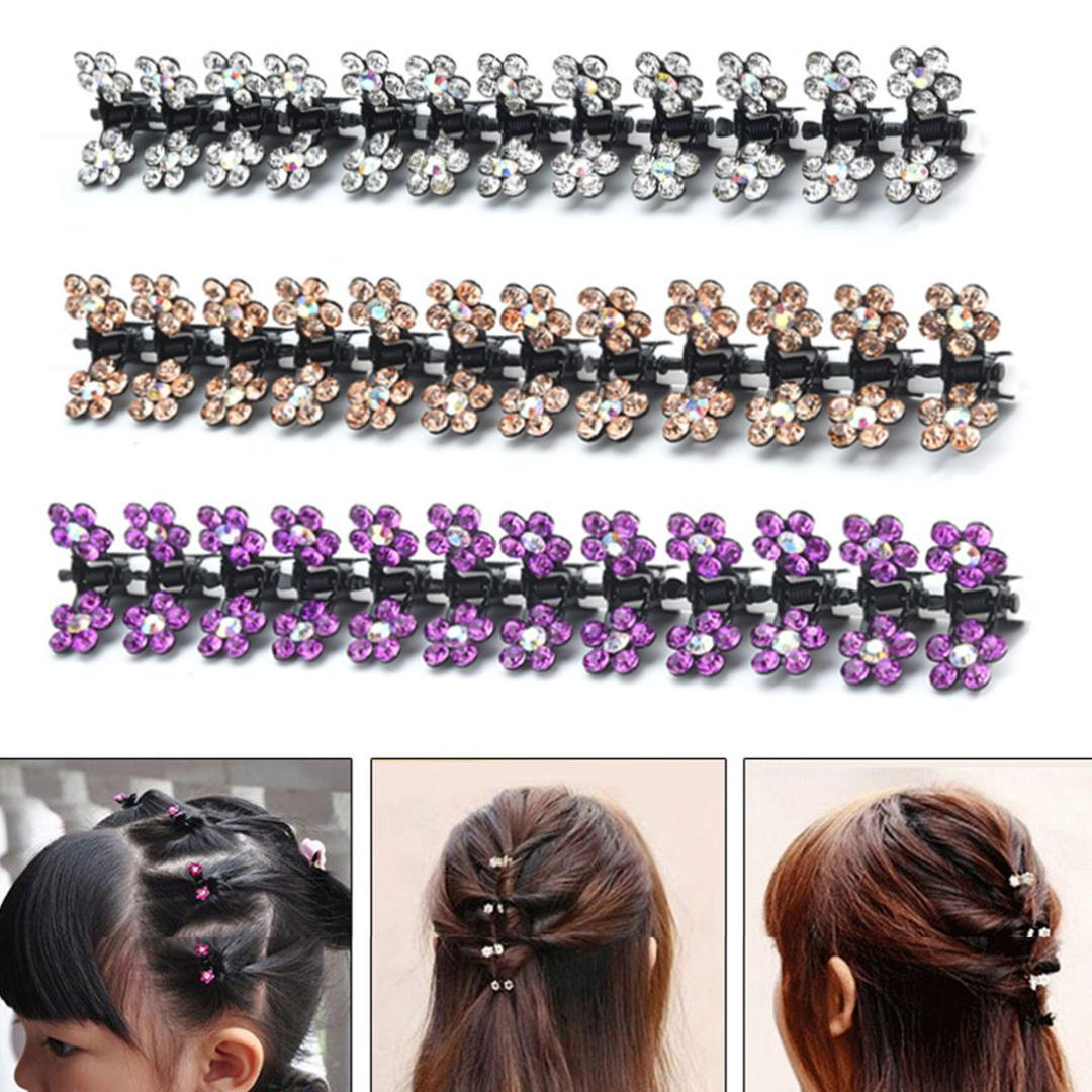 Hot Crystal Flower Mini Hair Claw Clamp Hair Clip NEW Barrette Pin Accessories  Plum Child Catching Clip Student Prom Hair Accessories Hair Accessories For  ... 7731ceeb766a